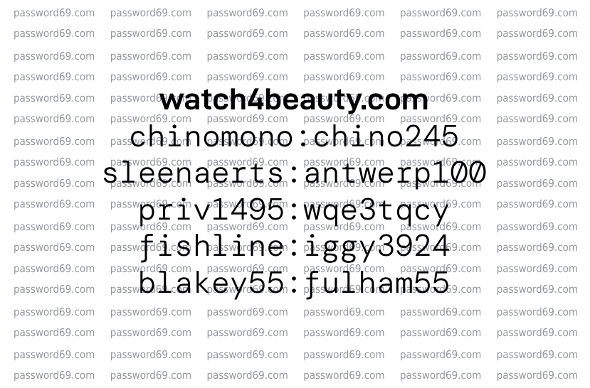 Free Watch4Beauty passes posted on October 6 2021